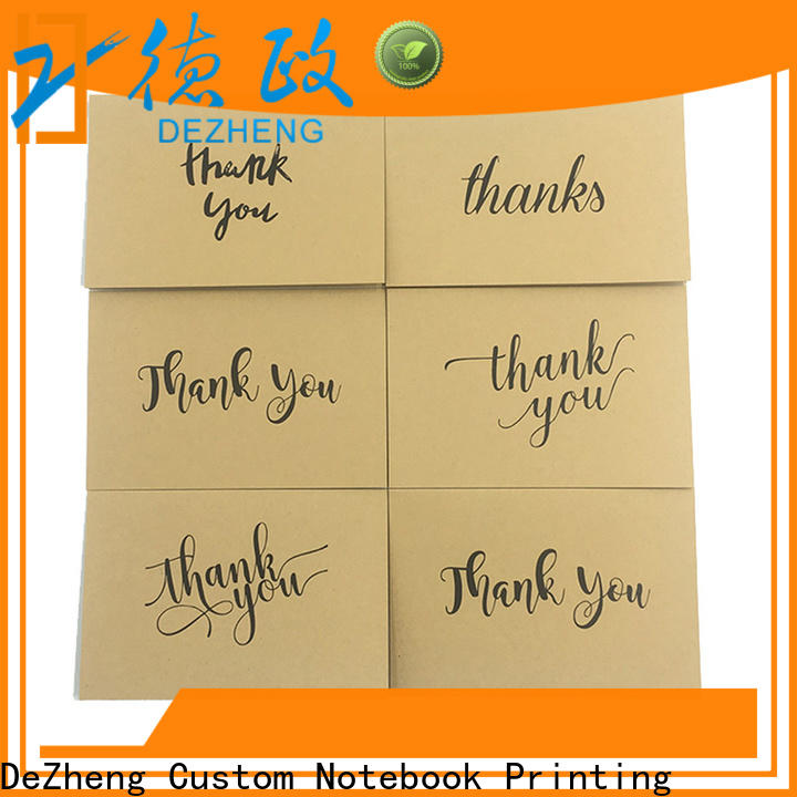 Dezheng Best thank you card for friend factory for gift