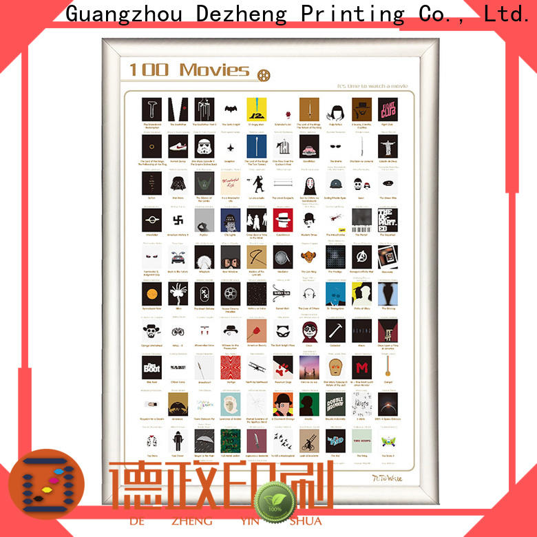 Dezheng bucket scratch movie poster Suppliers for movie collect