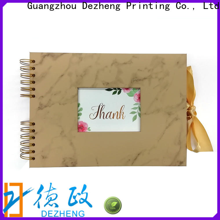 Dezheng latest leather photo album book manufacturers For memory saving