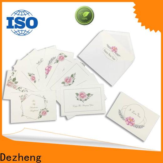 Dezheng High-quality bulk greeting cards factory