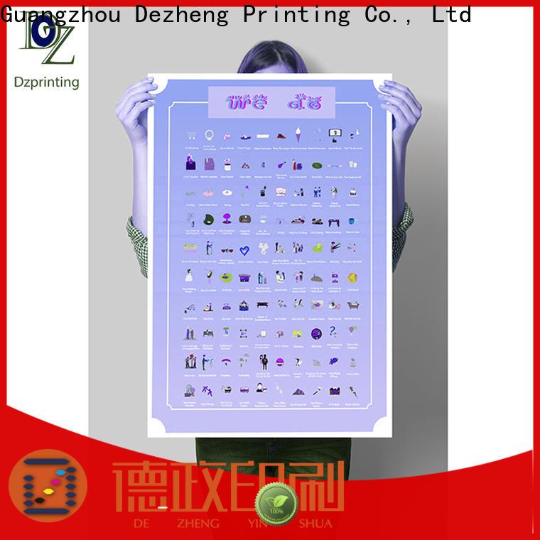 Dezheng Custom scratch map onde comprar manufacturers For student