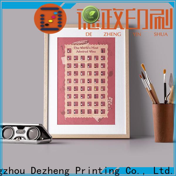 Dezheng scratch off poster for business