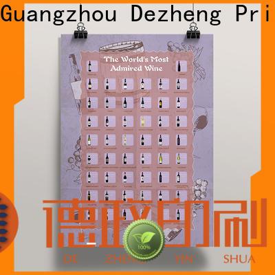 Dezheng factory scratch off poster customization
