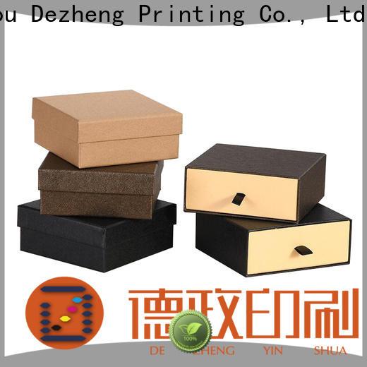 Dezheng kraft paper jewelry boxes factory