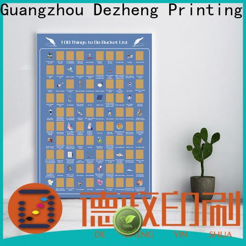 Dezheng factory scratch poster for business