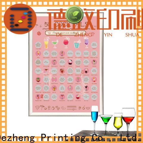 Dezheng company bucket list scratch poster customization
