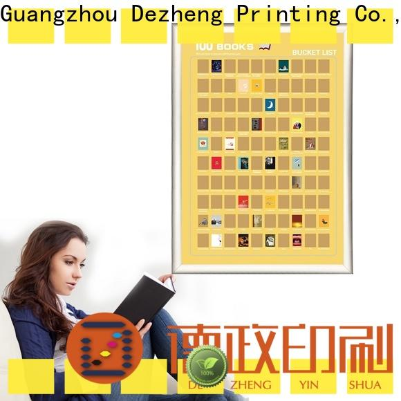 Dezheng must book scratch poster manufacturers For