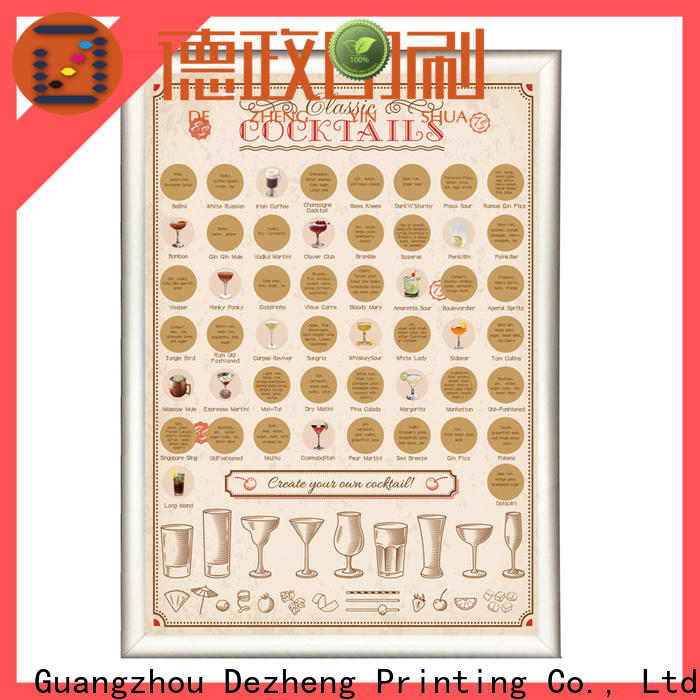 Dezheng for business scratch poster Supply