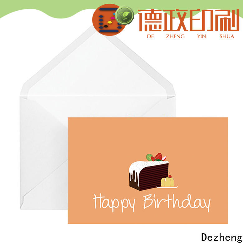 Dezheng texture customised greeting cards for birthday Suppliers For birthday