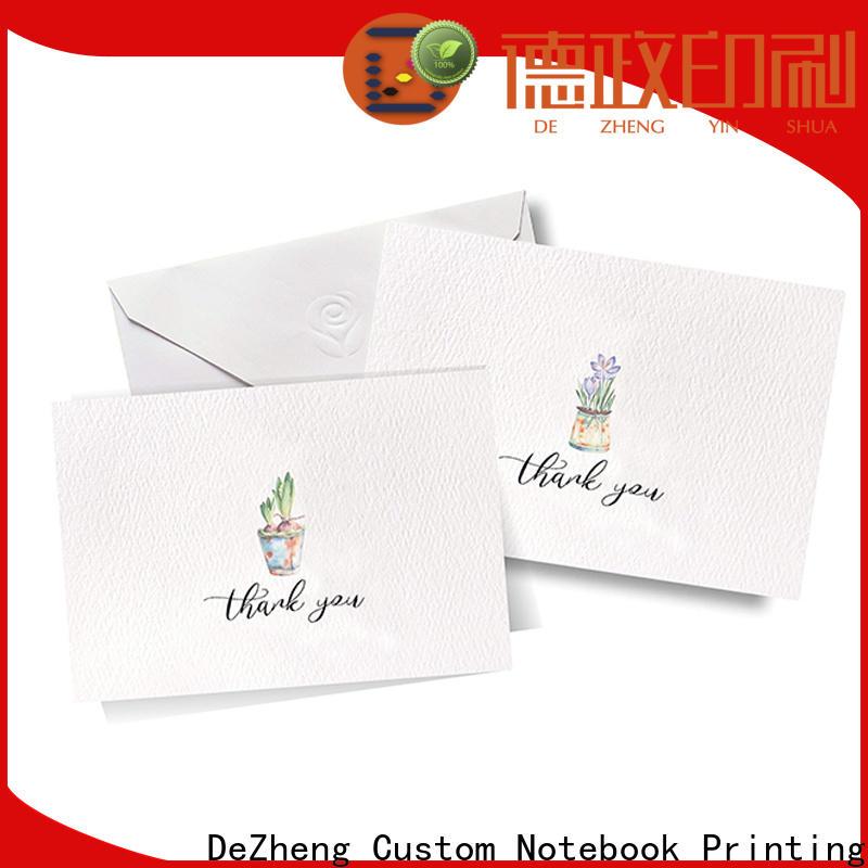 Dezheng Latest custom holiday cards for festival