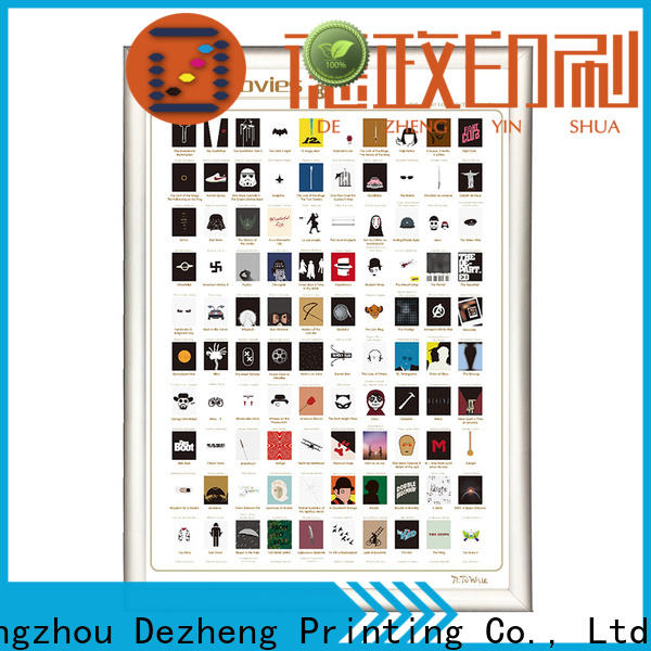 Dezheng high-quality 100 movies scratch off poster for movie collect