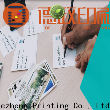 Dezheng white custom made holiday cards customization for festival
