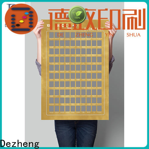Dezheng portable scratch off books Suppliers For