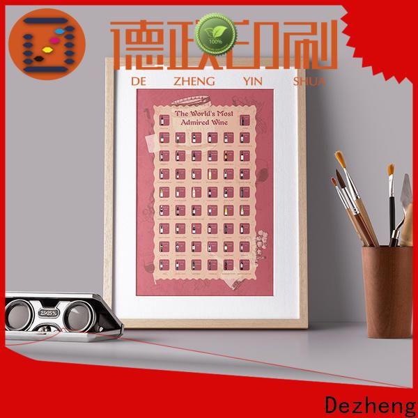 Dezheng Supply bucket list scratch poster Suppliers