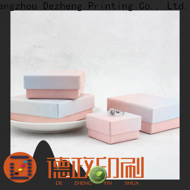 Dezheng manufacturers paper jewelry gift boxes factory