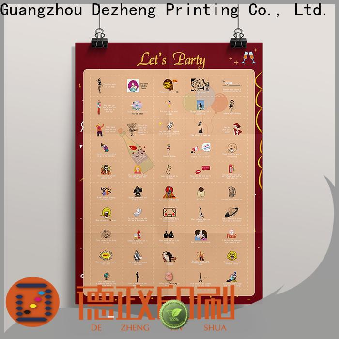 Dezheng scratch off poster manufacturers