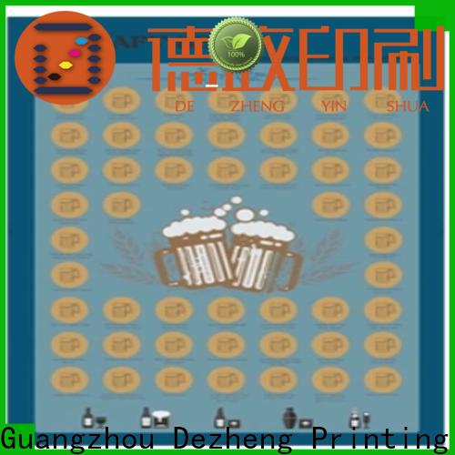 Dezheng bucket list scratch poster for business