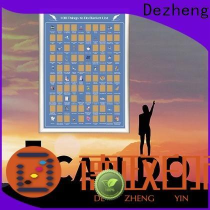 Dezheng Suppliers bucket list scratch poster