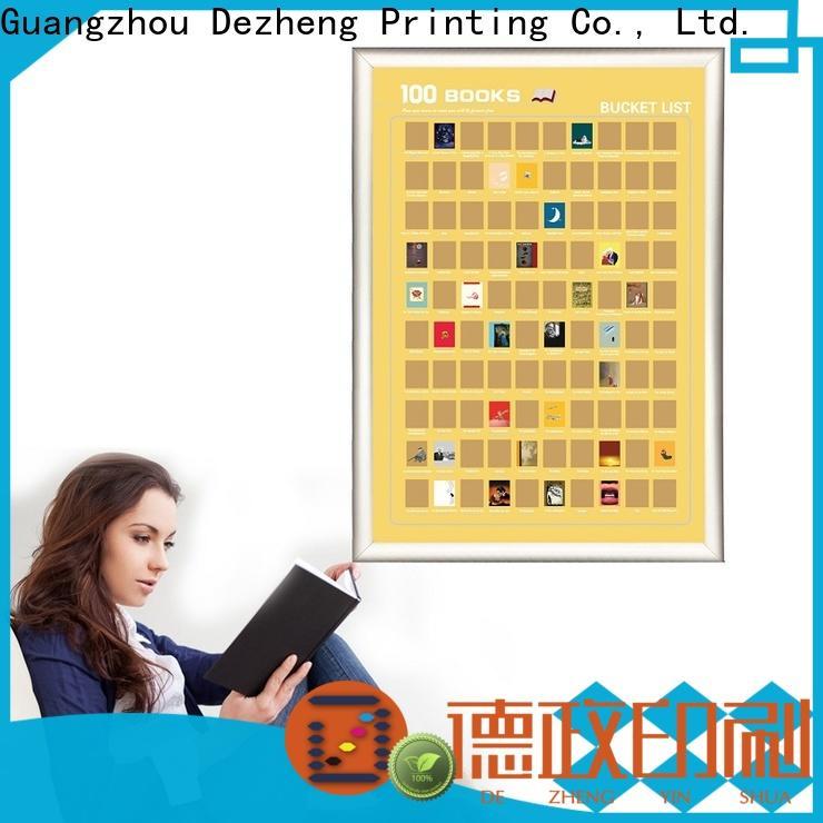 Dezheng Latest scratch off poster books customization For