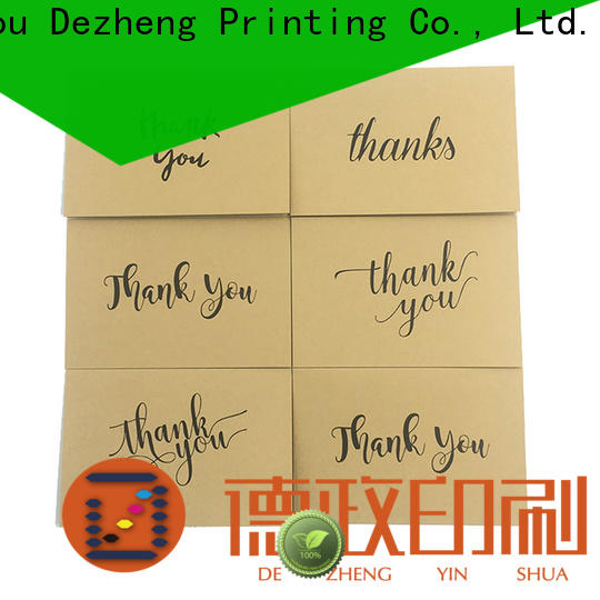 Dezheng Latest classic thank you cards Suppliers for gift