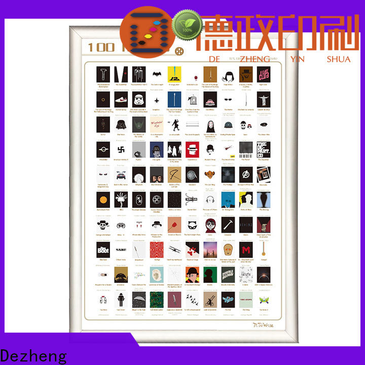 Dezheng Latest scratch movie poster manufacturers for movie collect