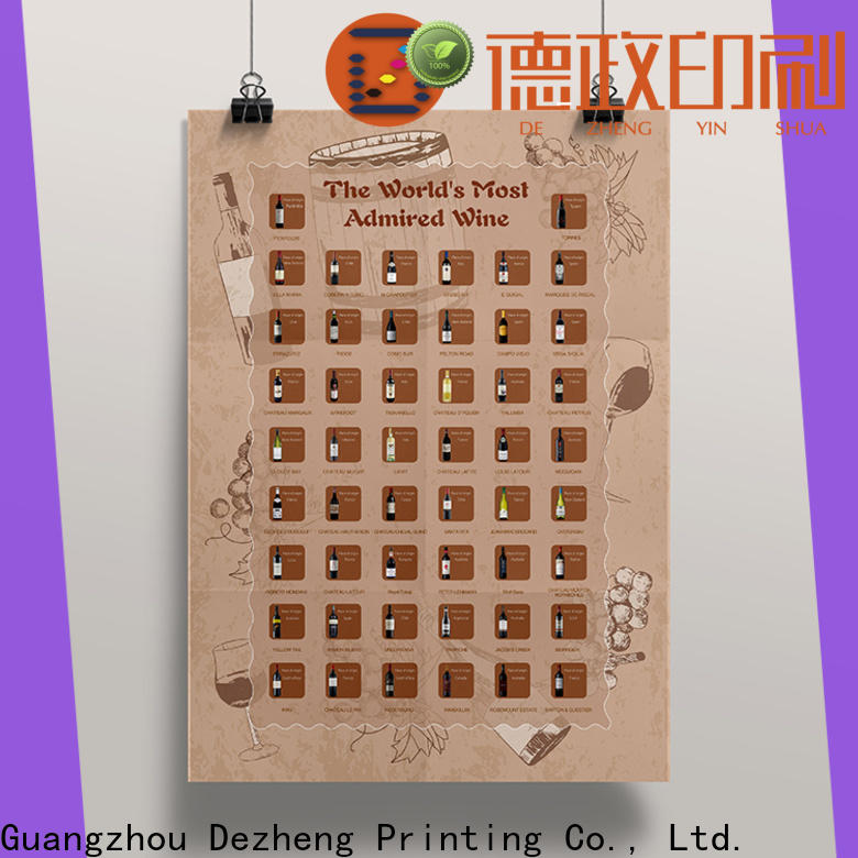 Dezheng Supply scratch off poster Supply