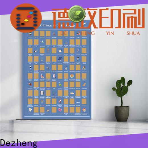 Dezheng scratch poster manufacturers