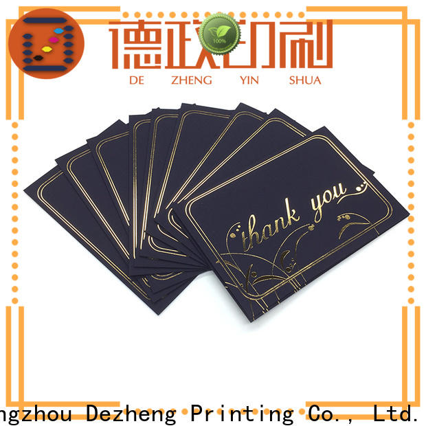 Dezheng Latest custom made greeting cards for friendship