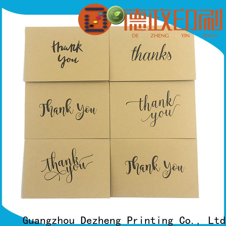 Dezheng cards thank u card factory for friendship