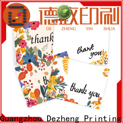 Dezheng durable thank you card for friend manufacturers for friendship