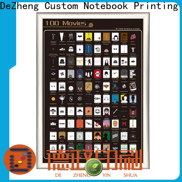 Dezheng scratch scratch off movies poster factory for movie collect