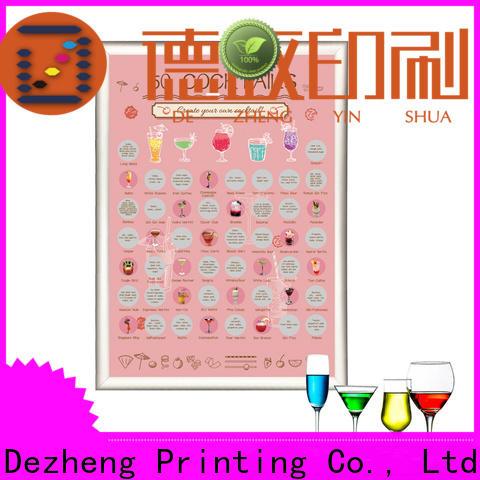 Dezheng Suppliers scratch off poster Supply