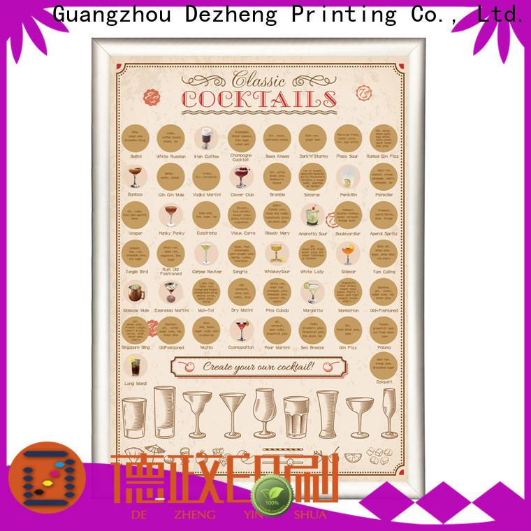 Dezheng scratch off poster