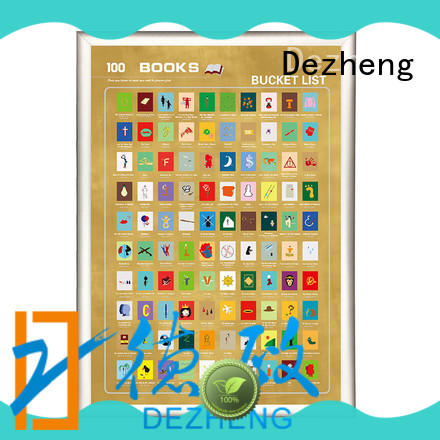 Dezheng Top book scratch poster Suppliers For movies collect