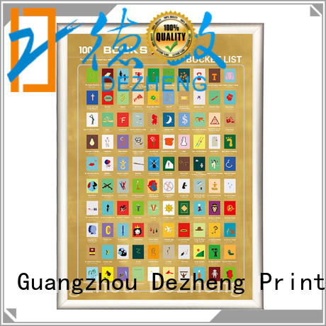 Dezheng sm001 scratch poster for business For
