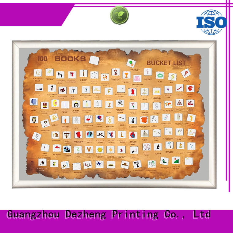 Dezheng bucket bucket list poster for business For