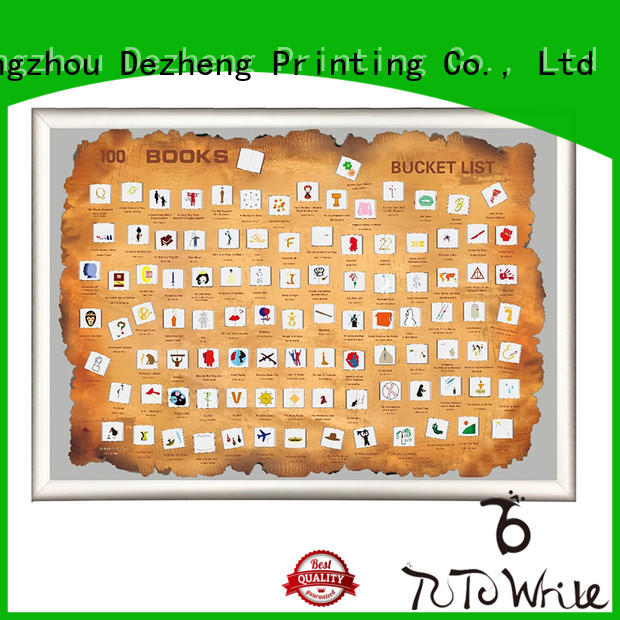 Dezheng poster scratch off book poster buy now For movies collect