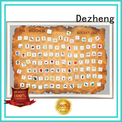 Dezheng professional sophisticated scratch map books customization For poster