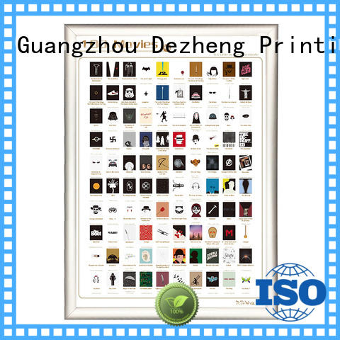 Dezheng New scratch off movies poster Suppliers for movie collect
