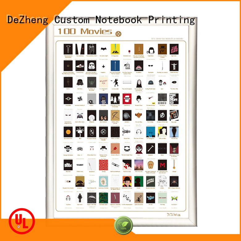 Dezheng quality scratch off movies poster manufacturers For bucket list