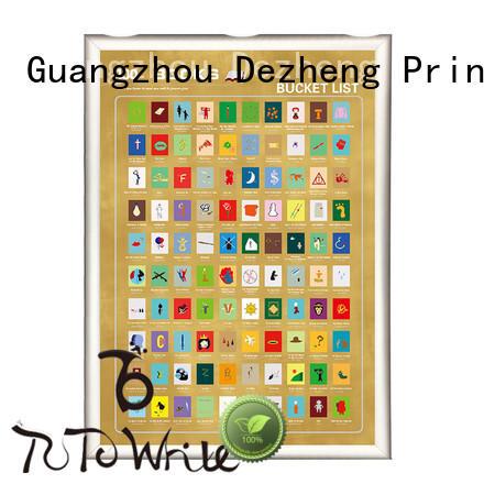 Dezheng scratch book scratch poster Suppliers For
