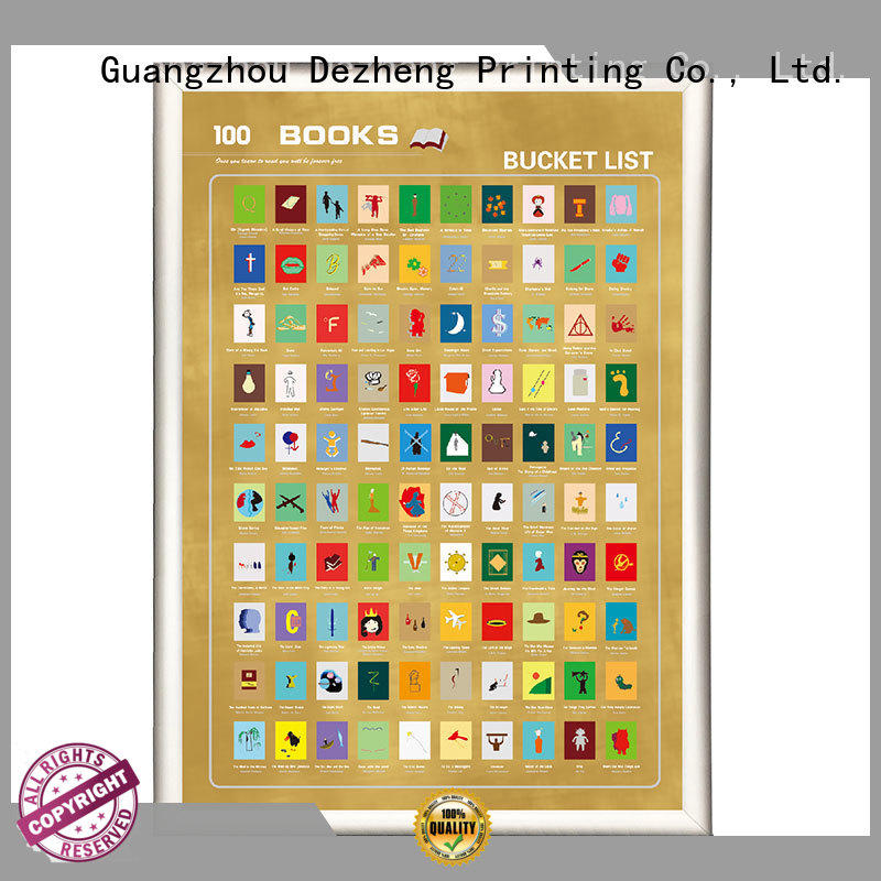 Dezheng sm002 scratch off poster OEM For