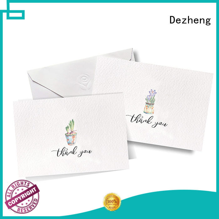 Dezheng gold greeting card design free sample for gift