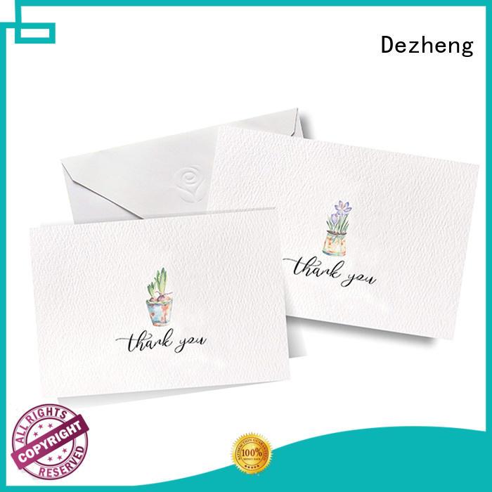 Dezheng gold greeting card design free sample for gift