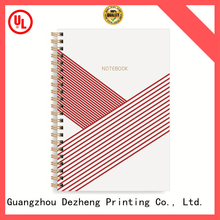 Dezheng pink blank spiral notebook get quote For school