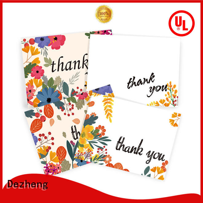 Dezheng paper thank u card Suppliers for gift