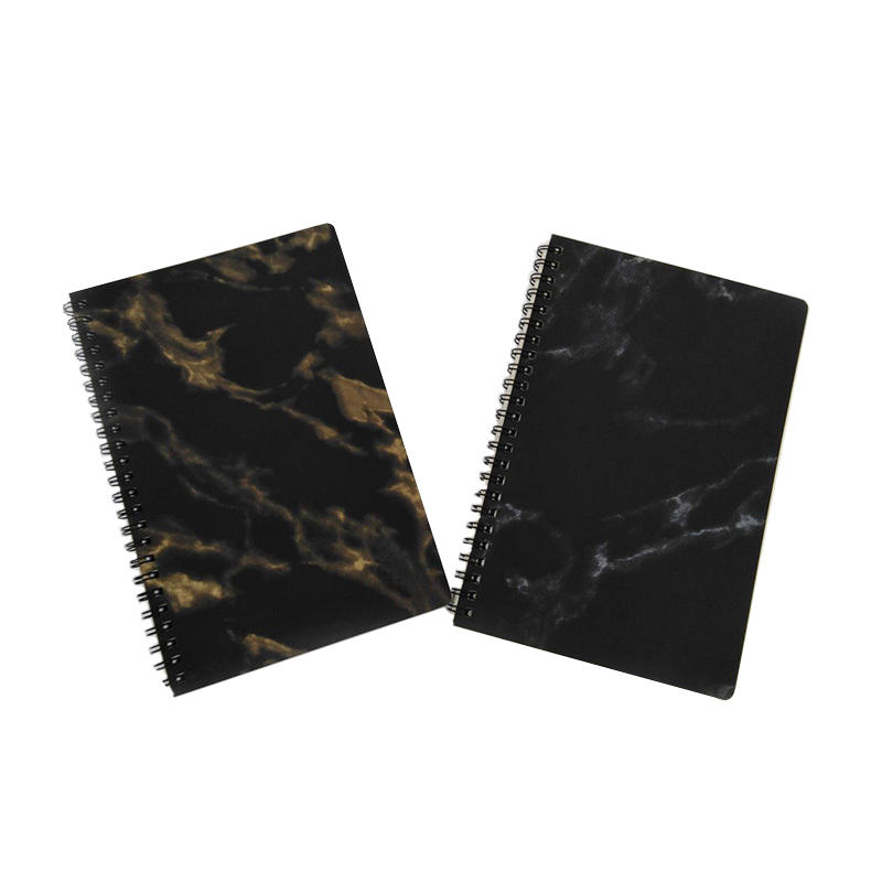 2019 new design custom logo eco friendly student marble spiral notebook