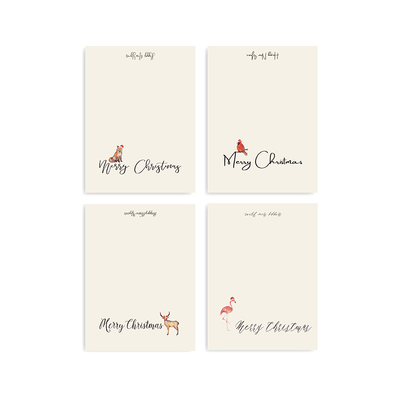 latest custom xmas cards animal Suppliers-2
