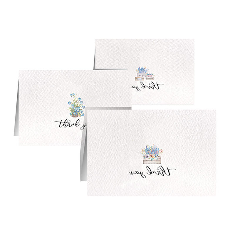 100 Pack Wholesale Blank Thank You Greeting Cards With White Envelopes