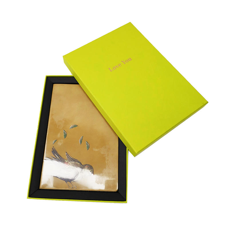Rectangle A5 Cardboard Box Custom Book Packaging Paper Gift Box With Flip Lid